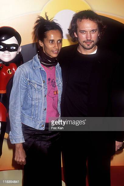 Karine Sylla and Vincent Perez during 'The Incredibles' Paris Premiere at Grand Rex in Paris France