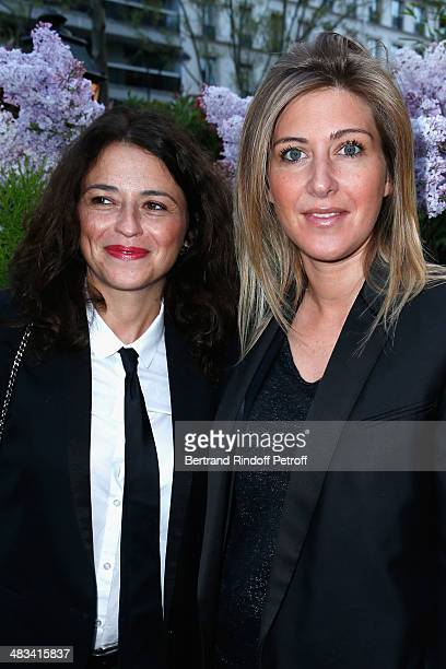 Karine Tuil and Amanda Sthers attend 'La Closerie Des Lilas Literary Awards 2014 7th Edition' at La Closerie Des Lilas on April 8 2014 in Paris France