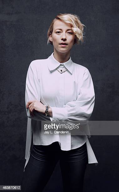 Karine Vanasse is photographed for Los Angeles Times at the 2015 Sundance Film Festival on January 24 2015 in Park City Utah PUBLISHED IMAGE CREDIT...