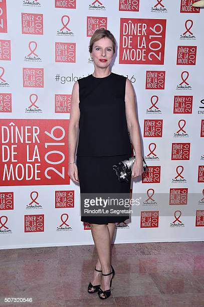 Karine Viard attends the Sidaction Gala Dinner 2016 as part of Paris Fashion Week on January 28 2016 in Paris France