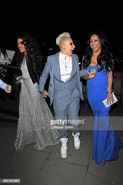Karis Anderson Alexandra Buggs and Courtney Rumbold from Stooshe are seen attending The Brit Awards 2013 after party on February 21 2013 in London...