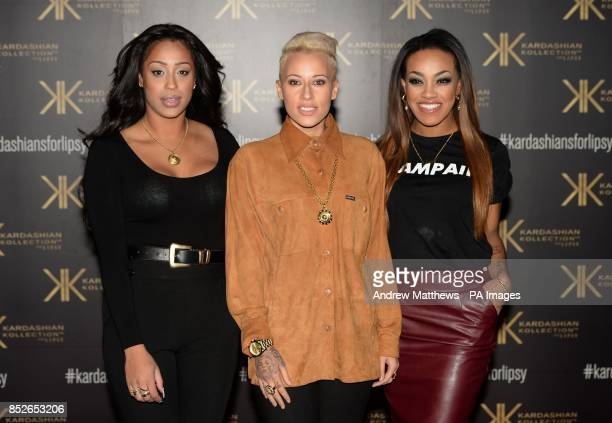 Karis Anderson Courtney Rumbold and Alexandra Buggs of band Stooshe attending the Kardashian Kollection For Lipsy launch party at the Natural History...