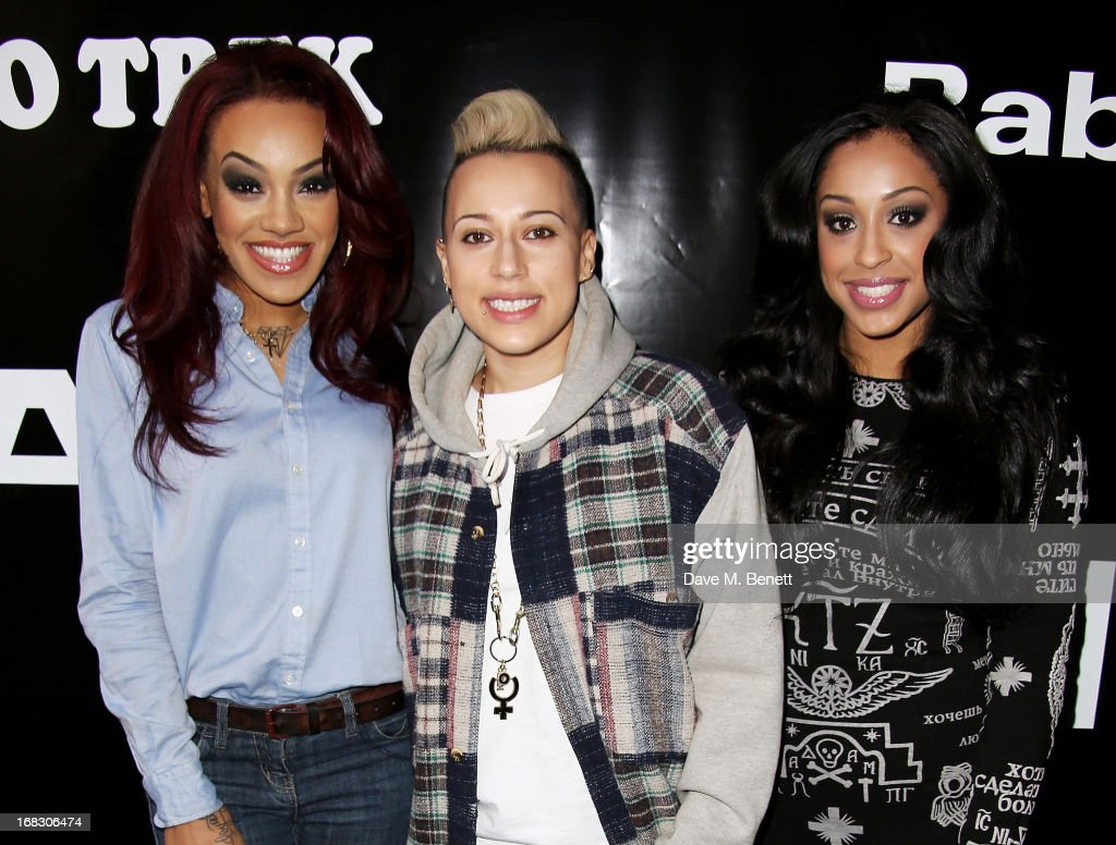 Karis Anderson Courtney Rumbold and Alexandra Buggs of Stooshe attend as Casio London celebrate the 1st birthday of their Covent Garden store on May...