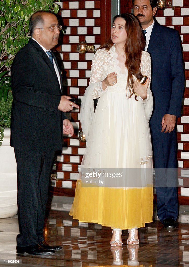Karishma Kapoor at a party hosted by Indian Industrialist Mukesh and his wife Nita Ambani to honour UN Secretary General Ban Ki Moon during his visit to India at Ambanis residence Antilia in Mumbai on Saturday.