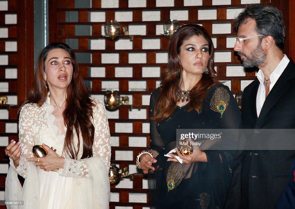 Karishma Kapoor at a party hosted by Indian Industrialist Mukesh and his wife Nita Ambani to honour UN Secretary General Ban Ki Moon during his visit to India at Ambanis residence Antilia in Mumbai on Saturday.
