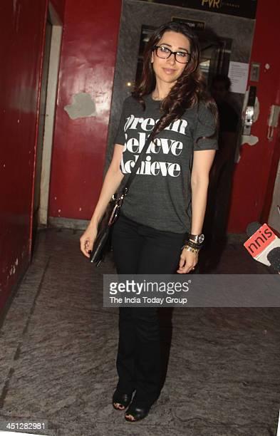 Karisma Kapoor at the screening of the movie Gori Tere Pyaar Mein in Mumbai