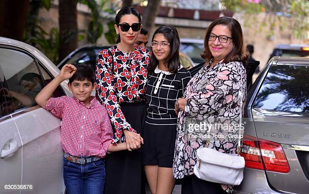 Karisma Kapoor during the annual Christmas lunch hosted by Shashi Kapoor in Mumbai
