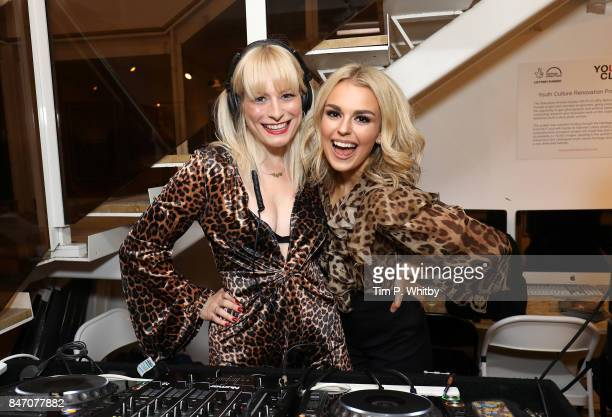 Karistocat and Talia Storm attend the 'A Front Row Seat' photography exhibition by Kirstin Sinclair at The Subculture Archives on September 14 2017...