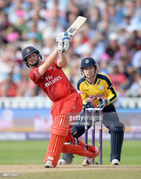 Karl Brown of Lancashire bats during the NatWest T20 Blast Semi Final between Hampshire Hawks and Lancashire Lighting at Edgbaston on August 29 2015...