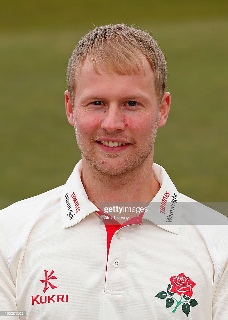 Karl Brown of Lancashire CCC during a pre-season photocall at Old Trafford on April 2, 2013 in Manchester, England.