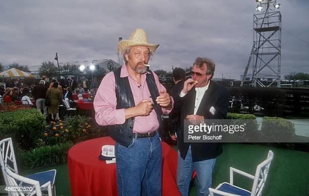'Karl Dall Gast RTLShow ''Dallas'' am auf der Southfork Ranch bei Parker in Texas USA '