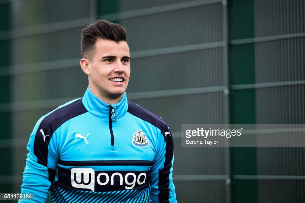 Karl Darlow during the Newcastle United Training Session at The Newcastle United Training Centre on March 17 2017 in Newcastle upon Tyne England