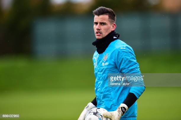 Karl Darlow looks on during the Newcastle United Training Session at The Newcastle United Training Centre on March 22 2017 in Newcastle upon Tyne...