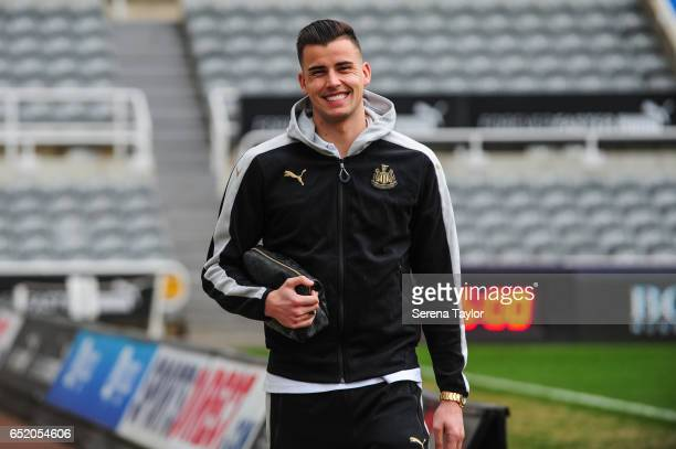 Karl Darlow of Newcastle United arrives prior to kick off of the Sky Bet Championship Match between Newcastle United and Fulham at StJames' Park on...