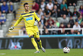 Karl Darlow of Newcastle United in action during the Capital One Cup Second Round between Newcastle United and Northampton Town at St James' Park on...