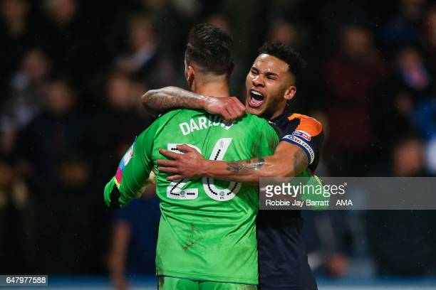 Karl Darrow of Newcastle United and Jamaal Lascelles of Newcastle United celebrates after Dwight Gayle of Newcastle United scores a goal to make it...