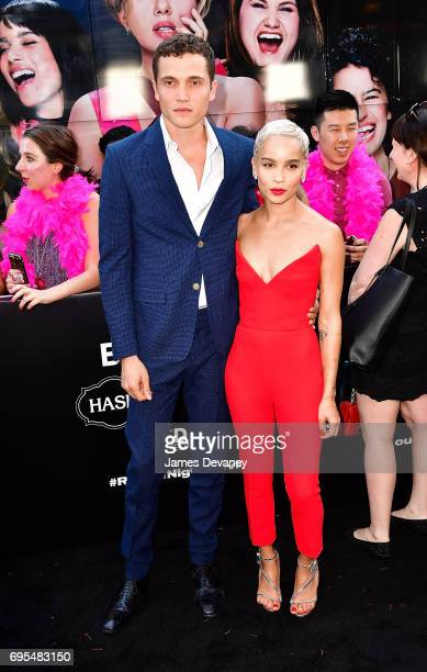 Karl Glusman and Zoe Kravitz attend the 'Rough Night' New York Premeire at AMC Lincoln Square Theater on June 12 2017 in New York City