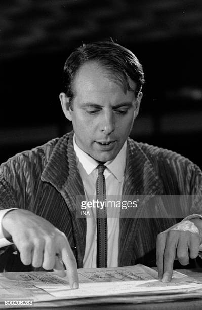 Karl Heinz Stockhausen during the shooting of the 'Big rehearsals'