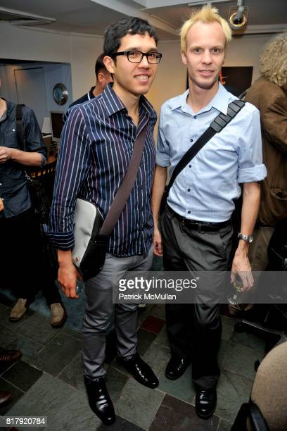 Karl Hinojosa and Ricky Milburn attend Opening Reception for MARK DeMAIO's 'Absurd Notions' at Synchronicity Space on September 8th 2010 in New York...