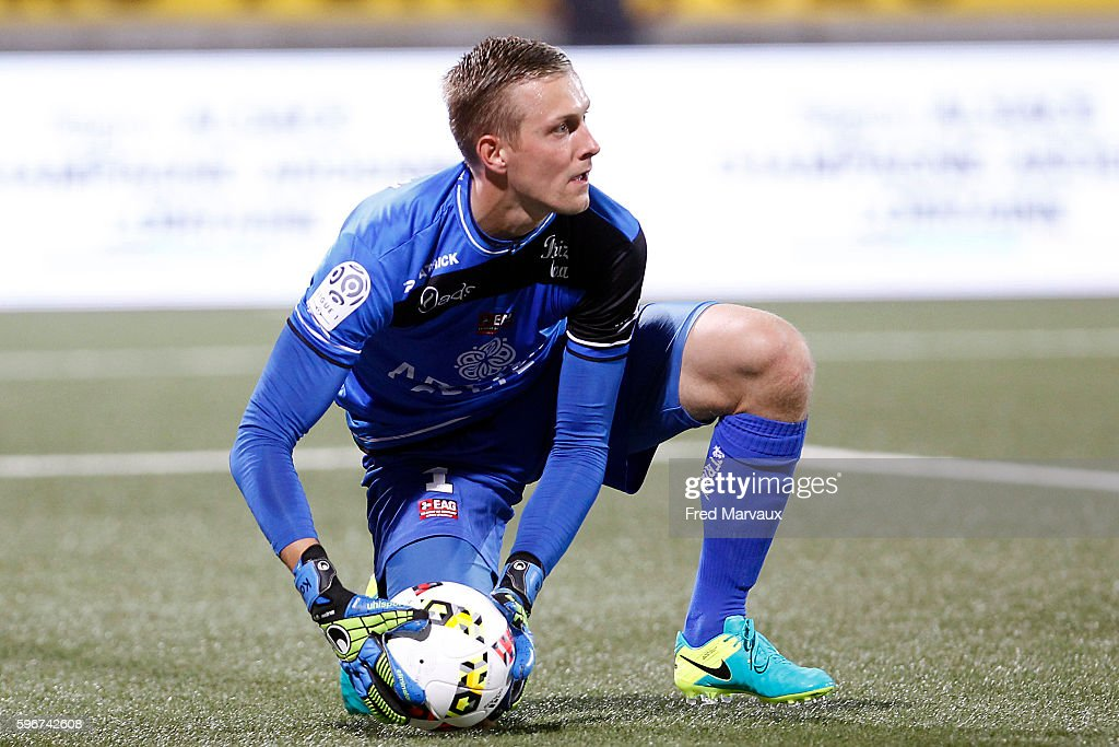 Karl Johan Johnsson of Guingamp during the French Ligue 1 between Nancy and Guingamp at Stade Marcel Picot on August 27 2016 in Nancy France