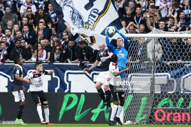 Karl Johan Johnsson of Guingamp during the French Ligue 1 match between Bordeaux and Guingamp at Stade Matmut Atlantique on February 18 2017 in...