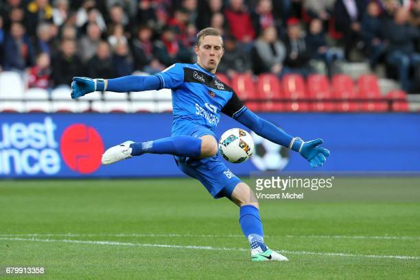 Karl Johan Johnsson of Guingamp during the Ligue 1 match between EA Guingamp and Dijon FCO at Stade du Roudourou on May 6 2017 in Guingamp France