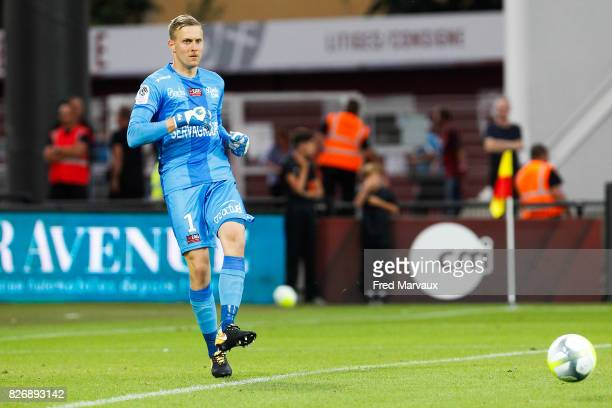 Karl Johan Johnsson of Guingamp during the Ligue 1 match between Metz and EA Guingamp on August 5 2017 at Stade Symphorien in Metz
