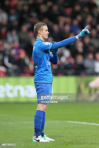 Karl Johan Jonhsson of Guingamp during the French Ligue 1 match between Guingamp and Nancy at Stade du Roudourou on March 31 2017 in Guingamp France