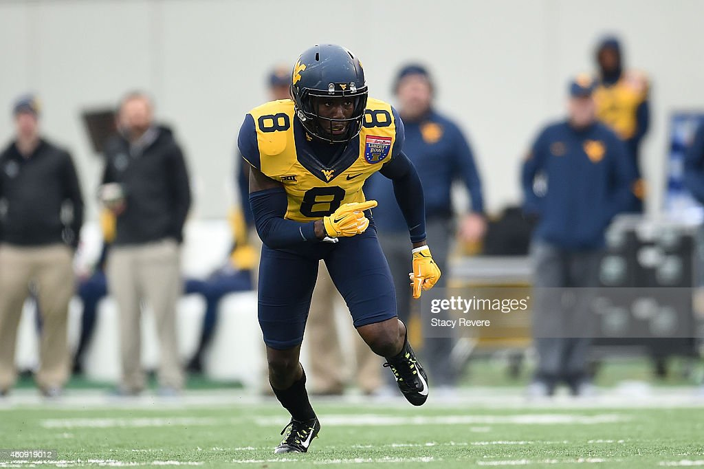 Karl Joseph of the West Virginia Mountaineers anticipates a play against the Texas AM Aggies during the 56th annual Autozone Liberty Bowl at Liberty...