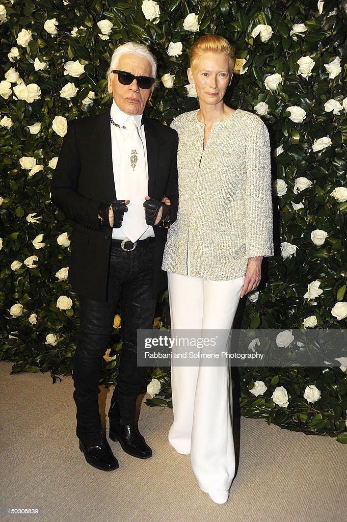 <a gi-track='captionPersonalityLinkClicked' href=/galleries/search?phrase=Karl+Lagerfeld+-+Fashion+Designer&family=editorial&specificpeople=4330565 ng-click='$event.stopPropagation()'>Karl Lagerfeld</a> and <a gi-track='captionPersonalityLinkClicked' href=/galleries/search?phrase=Tilda+Swinton&family=editorial&specificpeople=202991 ng-click='$event.stopPropagation()'>Tilda Swinton</a> attends the Museum of Modern Art 2013 Film benefit - A Tribute To <a gi-track='captionPersonalityLinkClicked' href=/galleries/search?phrase=Tilda+Swinton&family=editorial&specificpeople=202991 ng-click='$event.stopPropagation()'>Tilda Swinton</a> on November 5, 2013 in New York City.