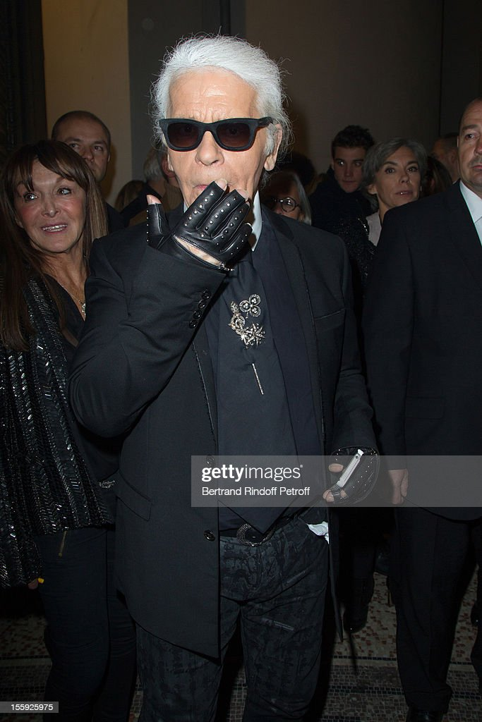 Karl Lagerfeld attends 'La Petite Veste Noire' Book Launch Hosted By himself & Carine Roitfeld at Grand Palais on November 8, 2012 in Paris, France.