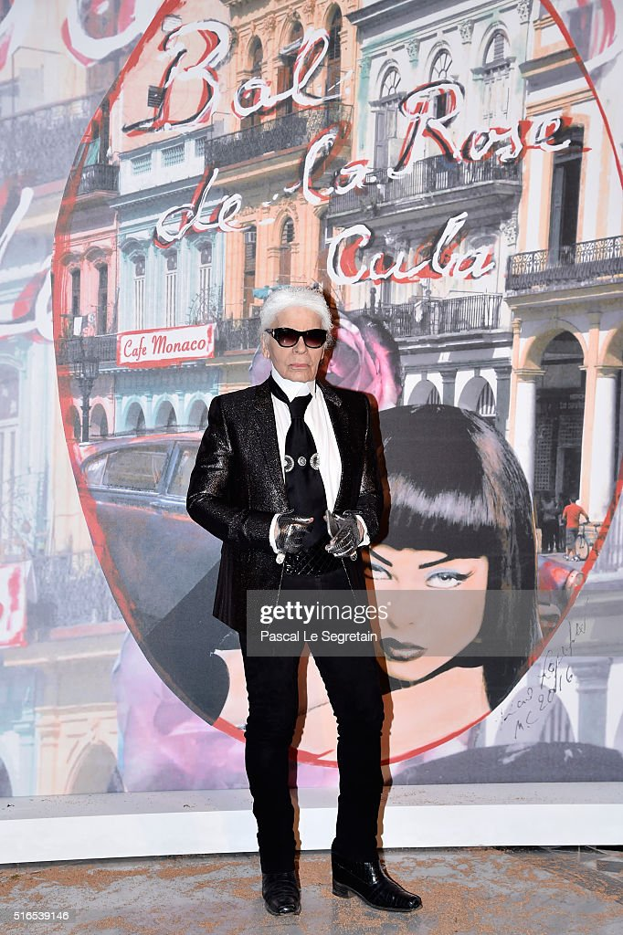 Karl Lagerfeld attends The 62nd Rose Ball To Benefit The Princess Grace Foundation at Sporting MonteCarlo on March 19 2016 in MonteCarlo Monaco