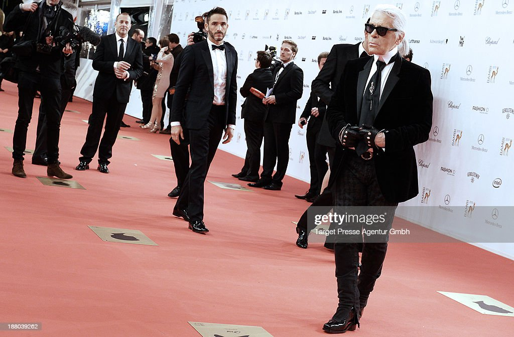 Karl Lagerfeld attends the Bambi awards 2013 at Stage Theater on November 14, 2013 in Berlin, Germany.