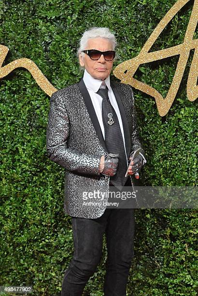 Karl Lagerfeld attends the British Fashion Awards 2015 at London Coliseum on November 23 2015 in London England