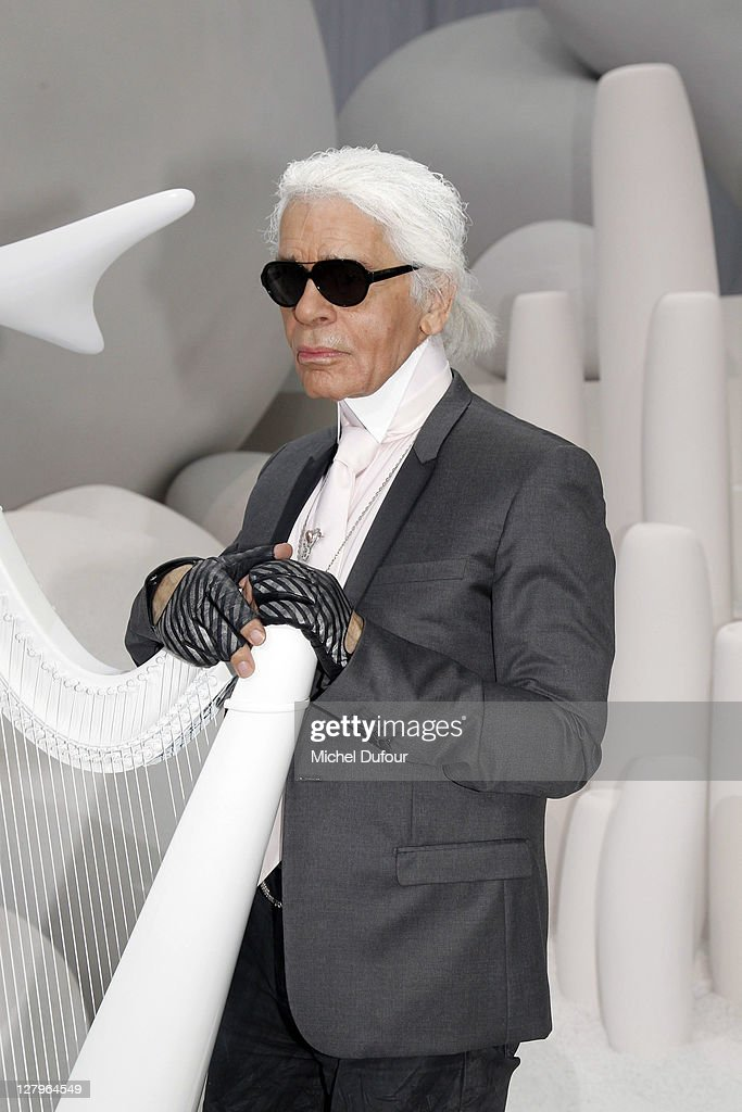Karl Lagerfeld attends the Chanel Ready to Wear Spring / Summer 2012 show during Paris Fashion Week at Grand Palais on October 4, 2011 in Paris, France.