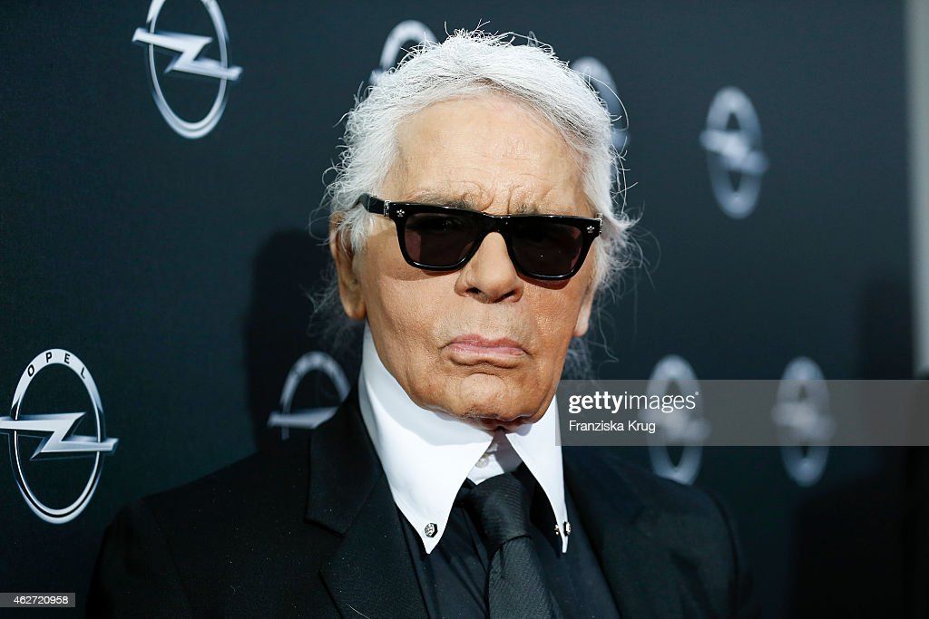 <a gi-track='captionPersonalityLinkClicked' href=/galleries/search?phrase=Karl+Lagerfeld&family=editorial&specificpeople=4330565 ng-click='$event.stopPropagation()'>Karl Lagerfeld</a> attends the 'Corsa Karl Und Choupette' Vernissage on February 03, 2015 in Berlin, Germany.