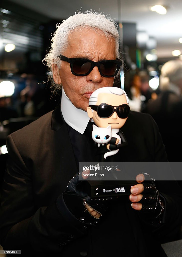 Karl Lagerfeld attends the Karl Lagerfeld store opening on September 4, 2013 in Munich, Germany.
