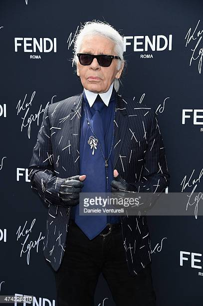 Karl Lagerfeld attends the launch of the new 'Fendi By Karl Lagerfeld' Book during the 68th annual Cannes Film Festival on May 21 2015 in Cannes...