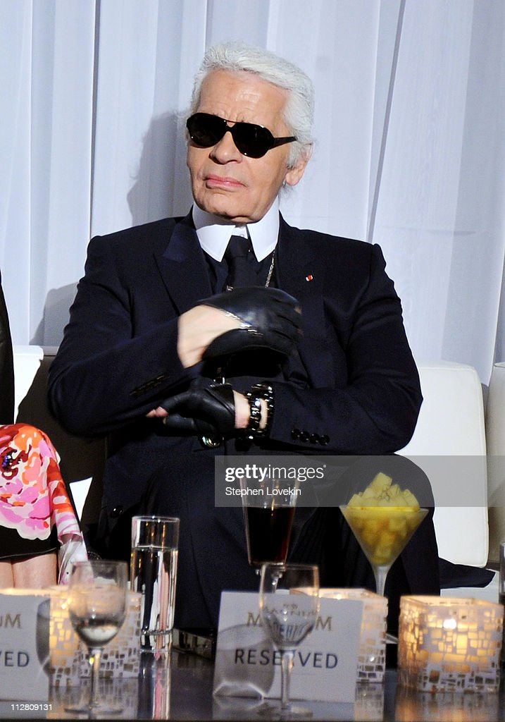 Karl Lagerfeld attends the red carpet premiere of the Magnum Ice Cream Film Series during the Tribeca Film Festival. Created and directed by Lagerfeld and starring Rachel Bilson, the films mark the introduction of globally renowned Magnum ice cream in the United States.
