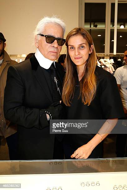Karl Lagerfeld attends the Repossi for Colette Coktail Party at Colette on March 5 2015 in Paris France