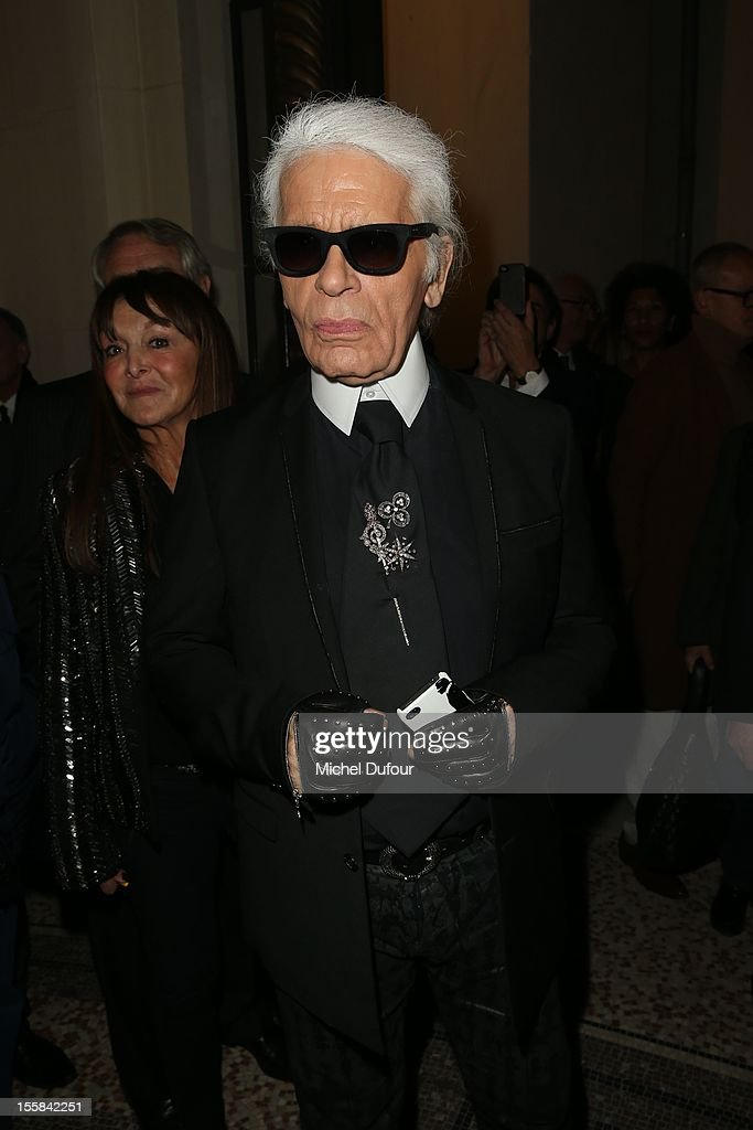 Karl Lagerfeld attends the'La Petite Veste Noire' Book Launch Hosted By Karl Lagerfeld & Carine Roitfeld at Grand Palais on November 8, 2012 in Paris, France.