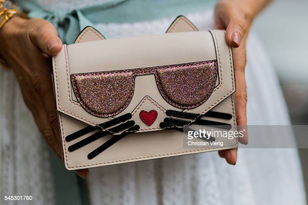 Karl Lagerfeld bag during Paris Fashion Week Haute Couture F/W 2016/2017 on July 6 2016 in Paris France