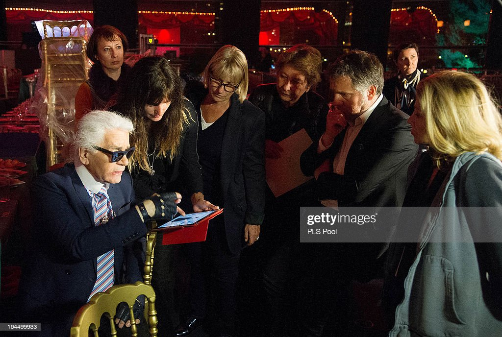 Karl Lagerfeld before the 'Bal De La Rose Du Rocher' in aid of the Fondation Princess Grace on the 150th Anniversary of the SBM at Sporting Monte-Carlo on March 23, 2013 in Monte-Carlo, Monaco.