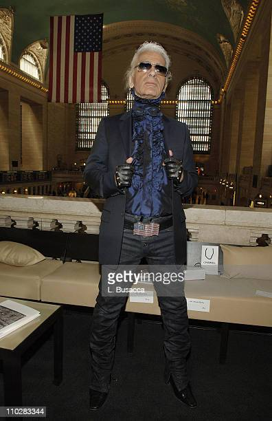 Karl Lagerfeld during Chanel Presents the 2006/2007 Cruise Collection at Grand Central Terminal in New York City New York United States