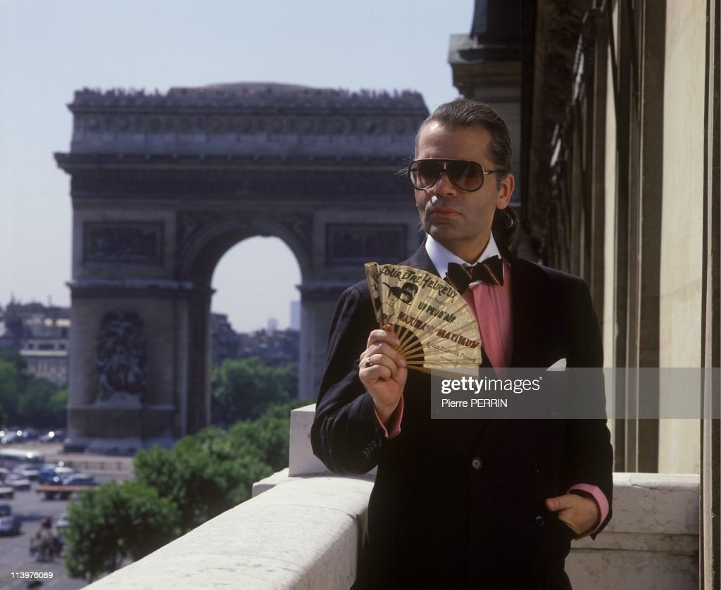 Karl Lagerfeld, portraits In Paris, France In January 1983.