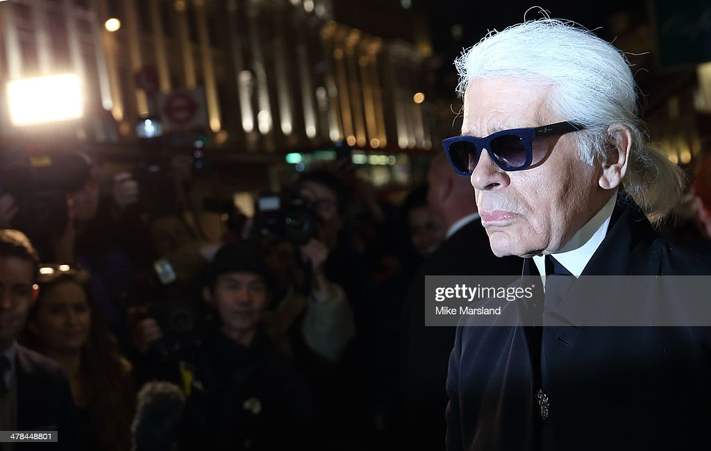 <a gi-track='captionPersonalityLinkClicked' href=/galleries/search?phrase=Karl+Lagerfeld+-+Fashion+Designer&family=editorial&specificpeople=4330565 ng-click='$event.stopPropagation()'>Karl Lagerfeld</a>attends the opening of <a gi-track='captionPersonalityLinkClicked' href=/galleries/search?phrase=Karl+Lagerfeld+-+Fashion+Designer&family=editorial&specificpeople=4330565 ng-click='$event.stopPropagation()'>Karl Lagerfeld</a>, Regent Street on March 13, 2014 in London, England.
