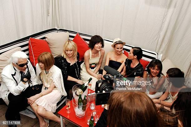 Karl Lagerfield Anna Wintour Patricia Riekel Irina Lazareanu Diane Kruger Lady Amanda Harlech Babeth Djian and Anna Mouglalis attend CHANEL 2008...