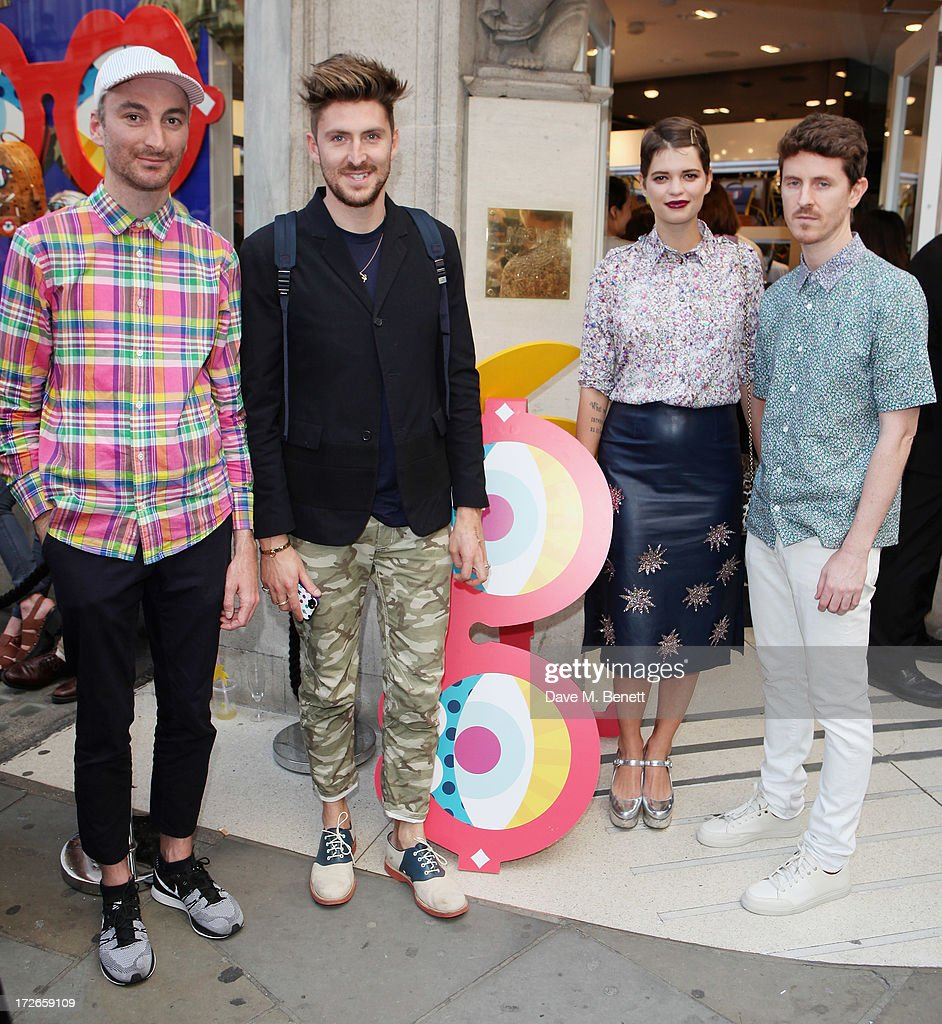Karl Maier, Amber Le Bon, Pixie Geldof and Craig Redman attends the MCM Craig And Karl Launch Event on July 4, 2013 in London, England.
