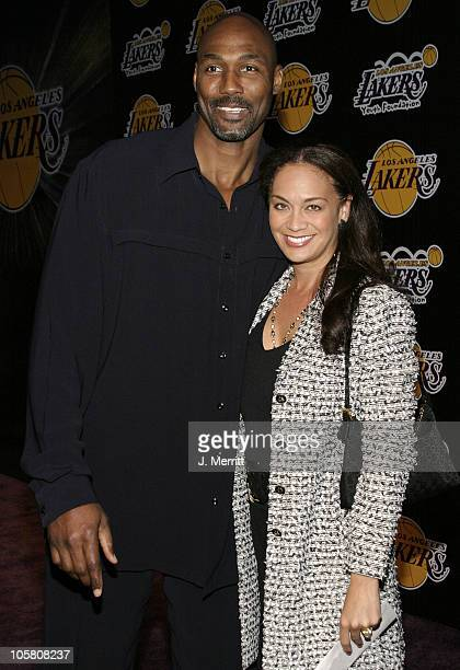 Karl Malone during 1st Annual Palms Casino Royale to Benefit The Lakers Youth Foundation at Barker Hangar in Santa Monica California United States