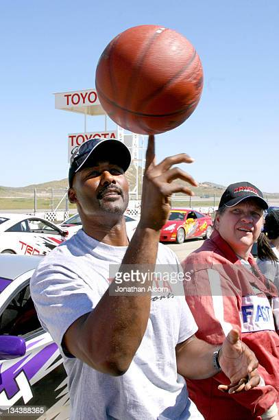 Karl Malone during 2005 Toyota Pro/Celebrity Race Driver Training at Willow Springs International Raceway in Rosamond California United States